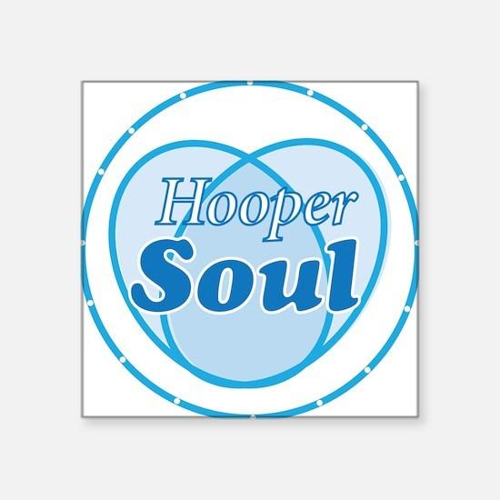 """Hooper Soul Blue Square Sticker 3"""" x 3"""""""