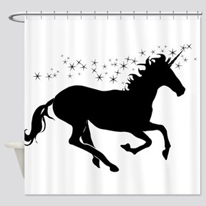 Magical Unicorn Silhouette Shower Curtain