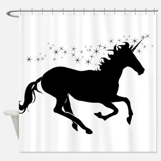 Magical Unicorn Silhouette Shower Curtain
