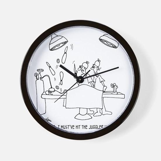 6677_juggling_cartoon Wall Clock