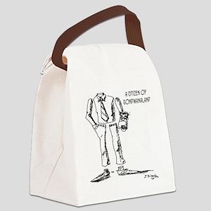 1124_geography_cartoon Canvas Lunch Bag