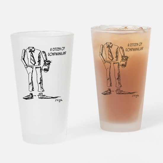 1124_geography_cartoon Drinking Glass