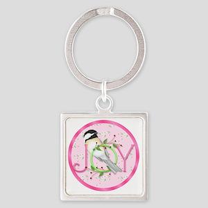 joy chickadee (3) Square Keychain