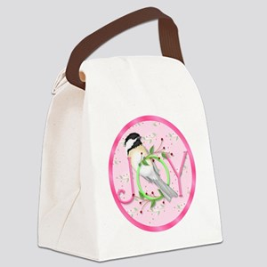 joy chickadee (3) Canvas Lunch Bag