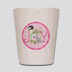 joy chickadee (3) Shot Glass