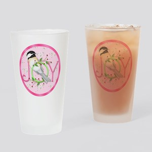 joy chickadee (3) Drinking Glass