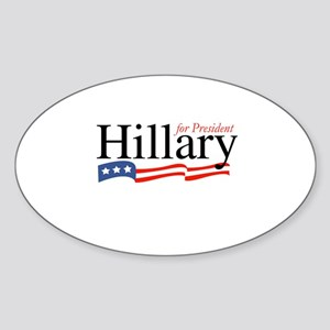 Hillary for President 2008 Oval Sticker