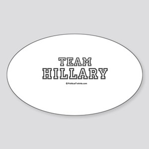 Team Hillary Oval Sticker