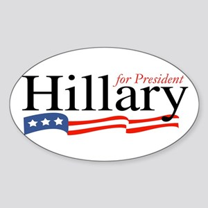 Hillary for President Sign Oval Sticker