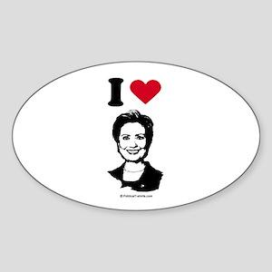 I love Hillary Clinton Oval Sticker