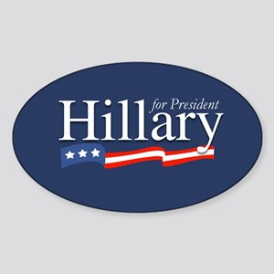 Hillary for President Poster Oval Sticker