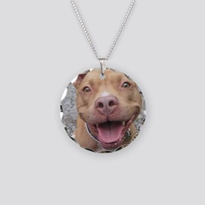 Bailey Smiley-Card Necklace Circle Charm