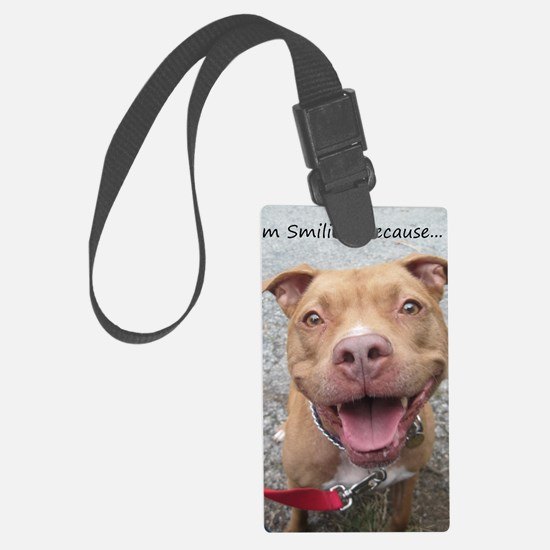 Bailey Smiley-Card Large Luggage Tag