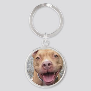 Bailey Smiley-Card Round Keychain