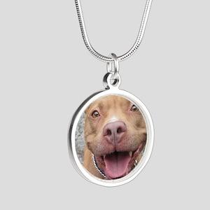 Bailey Smiley-Card Silver Round Necklace