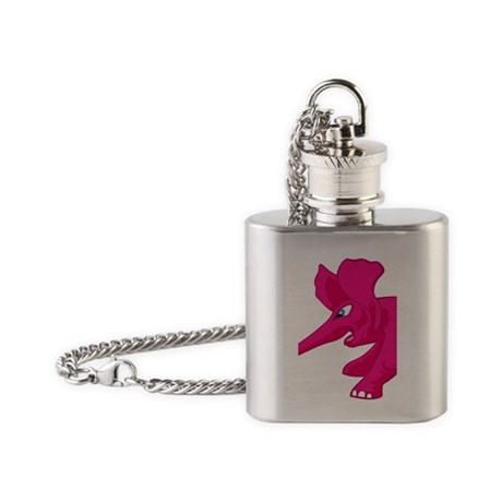 elephant_tug_keych_PinkB Flask Necklace