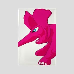 elephant_tug_keych_PinkB Rectangle Magnet