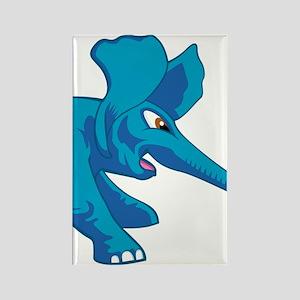 elephant_tug_keych_BlueF Rectangle Magnet
