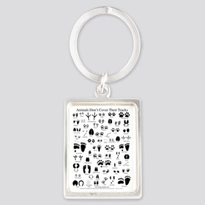 animal tracks poster 8 5 by 11 Portrait Keychain