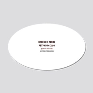 BRACCE DI  FERRO LIGHT 20x12 Oval Wall Decal