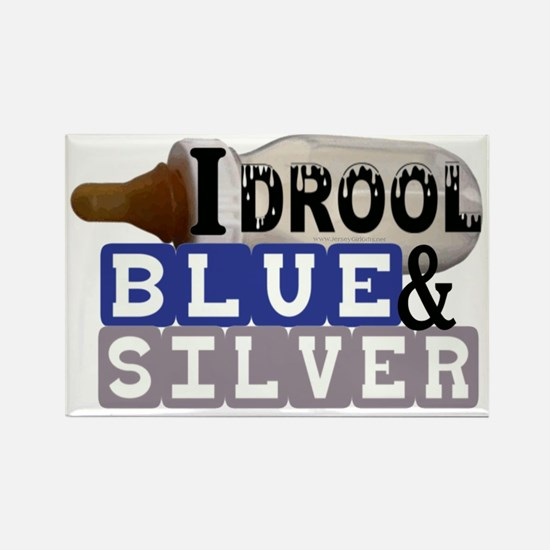 blue  silver.gif Rectangle Magnet