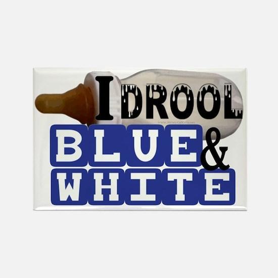 blue  white.gif Rectangle Magnet