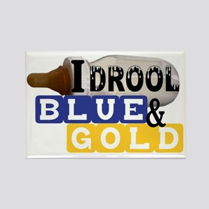 blue  gold Rectangle Magnet