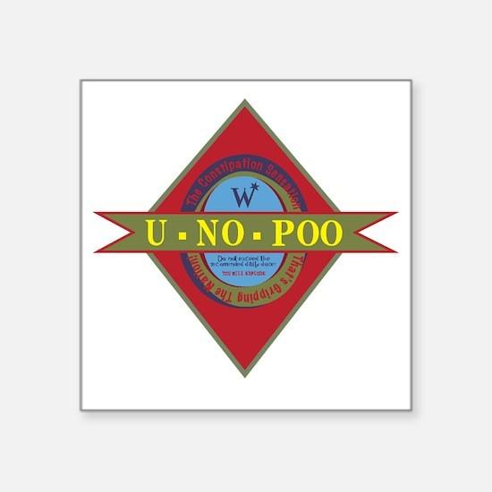"U-No_Poo_01 Square Sticker 3"" x 3"""
