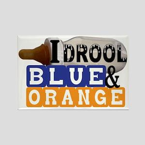 blue  orange Rectangle Magnet