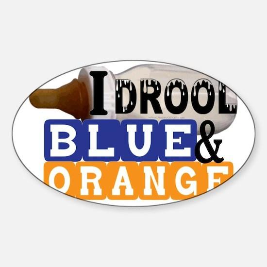 blue  orange.gif Sticker (Oval)