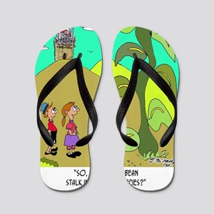 7317_botany_cartoon Flip Flops