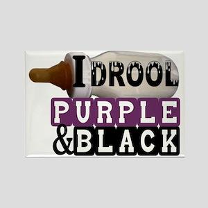 purple  black Rectangle Magnet
