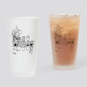 3277_plant_cartoon Drinking Glass