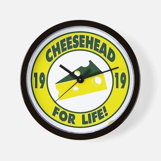 cheeseheadforlife1919 Wall Clock