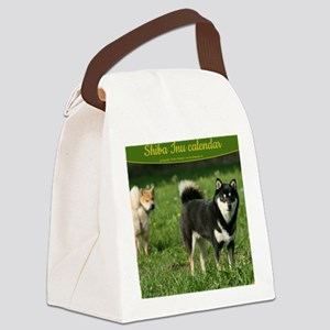 cal_shiba_cover Canvas Lunch Bag