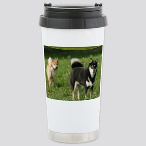 cal_shiba_cover Stainless Steel Travel Mug