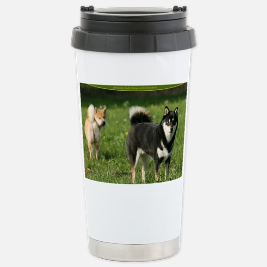 cal_shiba_cover Stainless Steel Travel Mug
