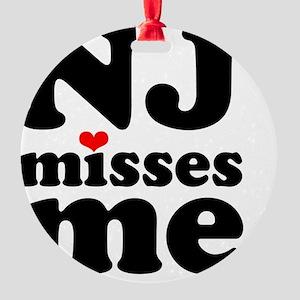 NJMM-sm Round Ornament