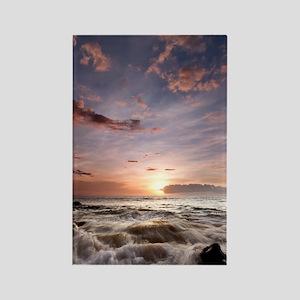 Hawaiian Sunset waves Rectangle Magnet
