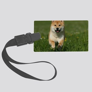 cal_shiba_jan Large Luggage Tag