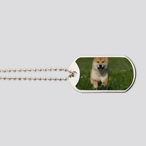 cal_shiba_jan Dog Tags