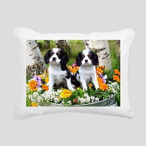 king charles spaniel Rectangular Canvas Pillow