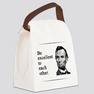 beexcellent2 Canvas Lunch Bag