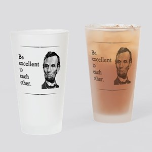 beexcellent2 Drinking Glass