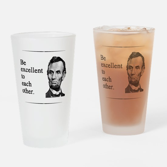 beexcellent2 Drinking Glass