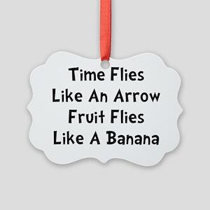 Fruit Flies Black Picture Ornament