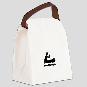 Upschit Creek White Canvas Lunch Bag