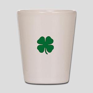 Part Irish White Shot Glass