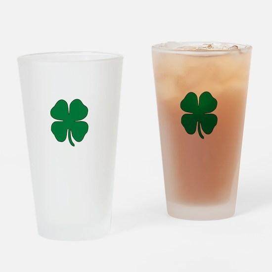 Part Irish White Drinking Glass