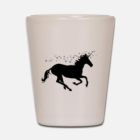 Magical Unicorn Silhouette Shot Glass